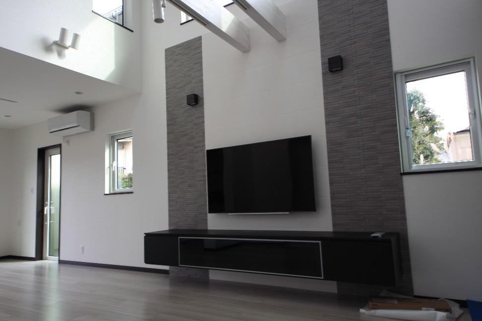 作り付けテレビボード
