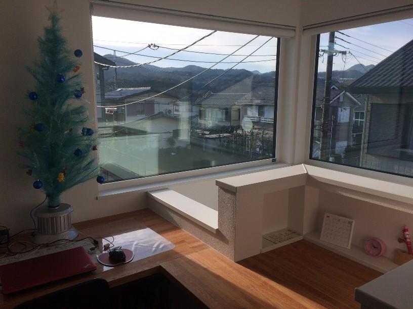 2階ホールからの景色