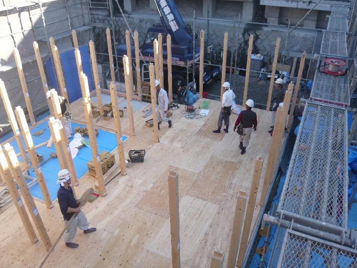 1階柱建て